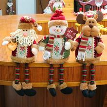 3Pcs Kerst Poppen Xmas Tree Decor Sneeuwpop Cartoon Elanden Speelgoed Kerstman Staande Pop Decoraties Ornament Home Kid Geschenken
