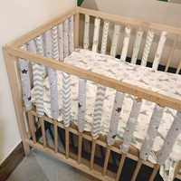 12pcs Baby Bed Crib Bumper Newborn Bumpers Infant Safe Fence Line bebe Cot Protector Unisex Newborn Bumpers