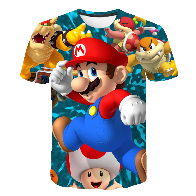 3D printed summer boy/girl sonic and super Mario cartoon t-shirts for kids hedgehogs short-sleeved t-shirts for kids casual wear