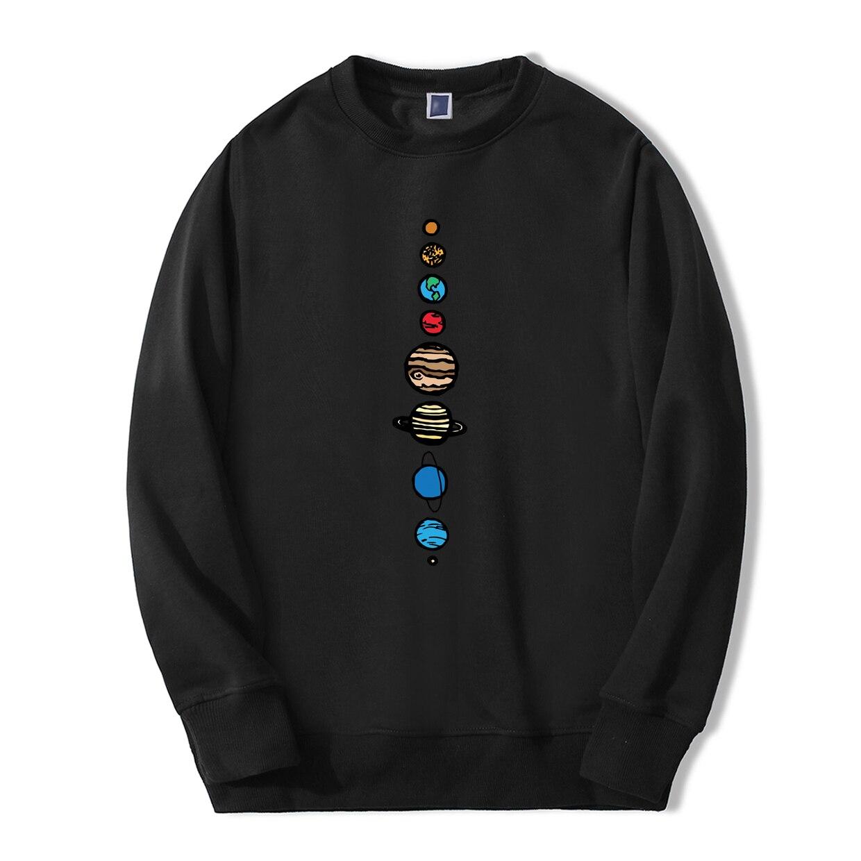 Planets Colour Men Hoodie 2019 Autumn Winter Warm Fleece High Quality Sweatshirts Creative Design Funny Fashion Fitness Hoodies