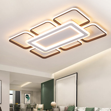 Plafonnier moderne en aluminium et acrylique, éclairage dintérieur, luminaire décoratif de plafond, idéal pour un salon ou une chambre à coucher, LED couleurs marron, led