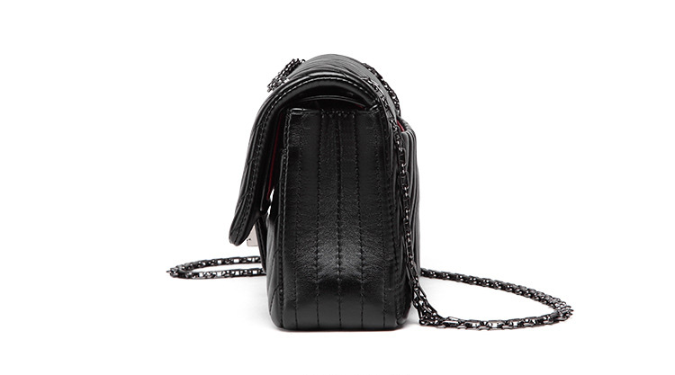 2019 Fashion Quilted Leather Chain Handbag Womens Luxury Shoulder Bags Branded Famous Black Double Flap Crossbody Bag for Women (38)