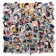 Pegatina de PVC impermeable de Anime Demon Slayer Kimetsu No Yaiba, para monopatín, equipaje, motocicleta, Chico, Vsco, 10/50/100 Uds.