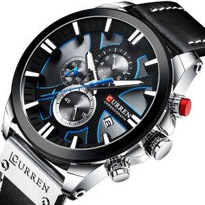Image 5 - นาฬิกา CURREN Big Dial นาฬิกาผู้ชาย 2019 Chronograph SPORT นาฬิกาผู้ชายออกแบบสร้างสรรค์ด้วยวันที่ชายนาฬิกาข้อมือสแตนเลส