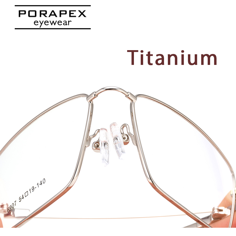 PORAPEX Titanium Men Glasses Frame Women Superelastic Eyeglasses Optical Prescription Myopia Spectacle Frame Oculos De Grau