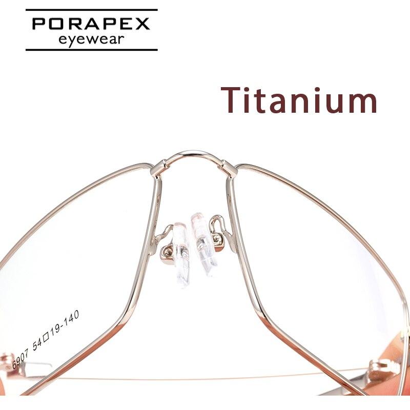 PORAPEX титановая оправа для очков для мужчин и женщин, Суперэластичные оптические очки по рецепту, оправа для очков, при близорукости, oculos de grau|Мужские очки кадры|   | АлиЭкспресс