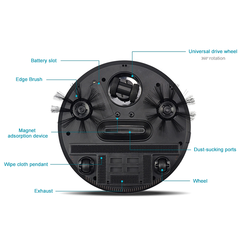 Automatic Smart Robot Vacuum Cleaner with Powerful Suction and Anticollision Property for Home Cleaning 1