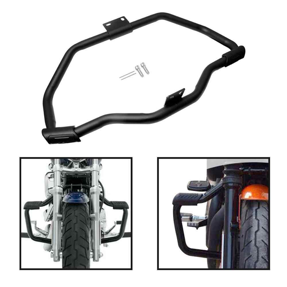אופנוע רוכב קפה שחור שפם מנוע כביש משמר התרסקות בר Fit עבור הארלי Sportster XL883 XL1200 2004-2019