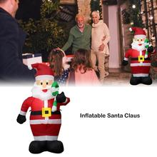 Inflatable Santa Claus Set Christmas Event Venue Layout Decorations Props 1.2m Garden Shopping Mall Ornament Home Party Decor стоимость