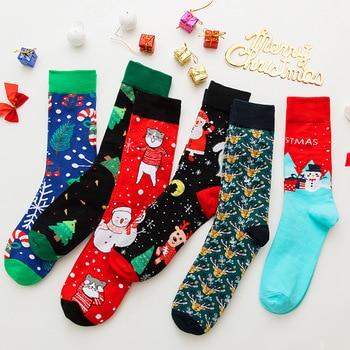 2019 Winter Christmas Unisex Warm Socks Soft Cotton Cute Santa Tree Deer Pattern Socks Xmas Christmas Decor Sock Free Shipping