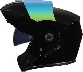 2 Gifts Unisex Racing Motorcycle Helmets Modular Dual Lens Motocross Helmet Full Face Safe Helmet Flip Up Cascos Para Moto kask 12