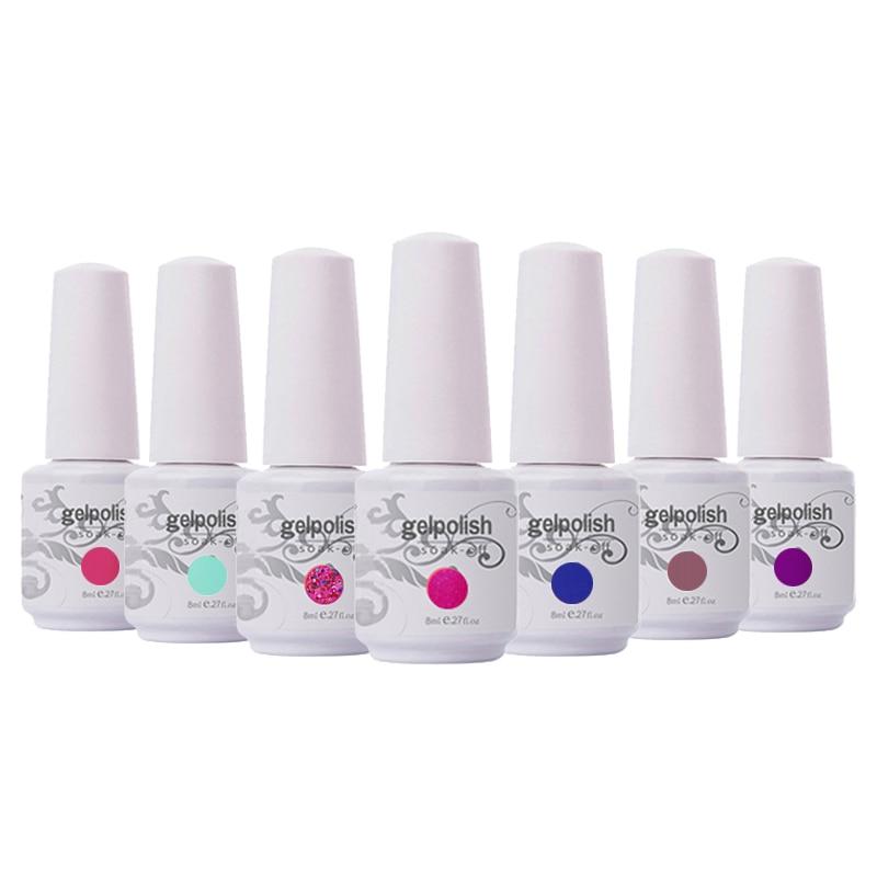 12Pcs/lot 8ML 2020 Brand New Kismart Soak Off UV Nail Gel Polish 369 Fashion Colors Available For Salon Gel Polish LED Gel Nail