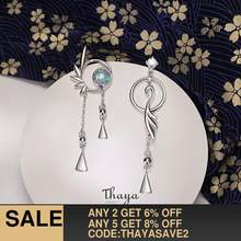 Thaya Authentic 925 Sterling Silver Flamingo Earrings Stud Earrings For Women Dangle Japanese Style Earring Fine Jewelry Gifts(China)