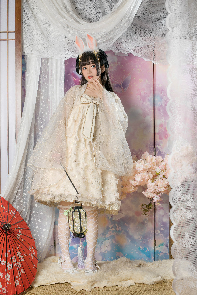 Sweet lolita  soft  girl lovely victorian printing preppy style student Hanfu retro  kawaii girl loli cos gothic lolita kimono