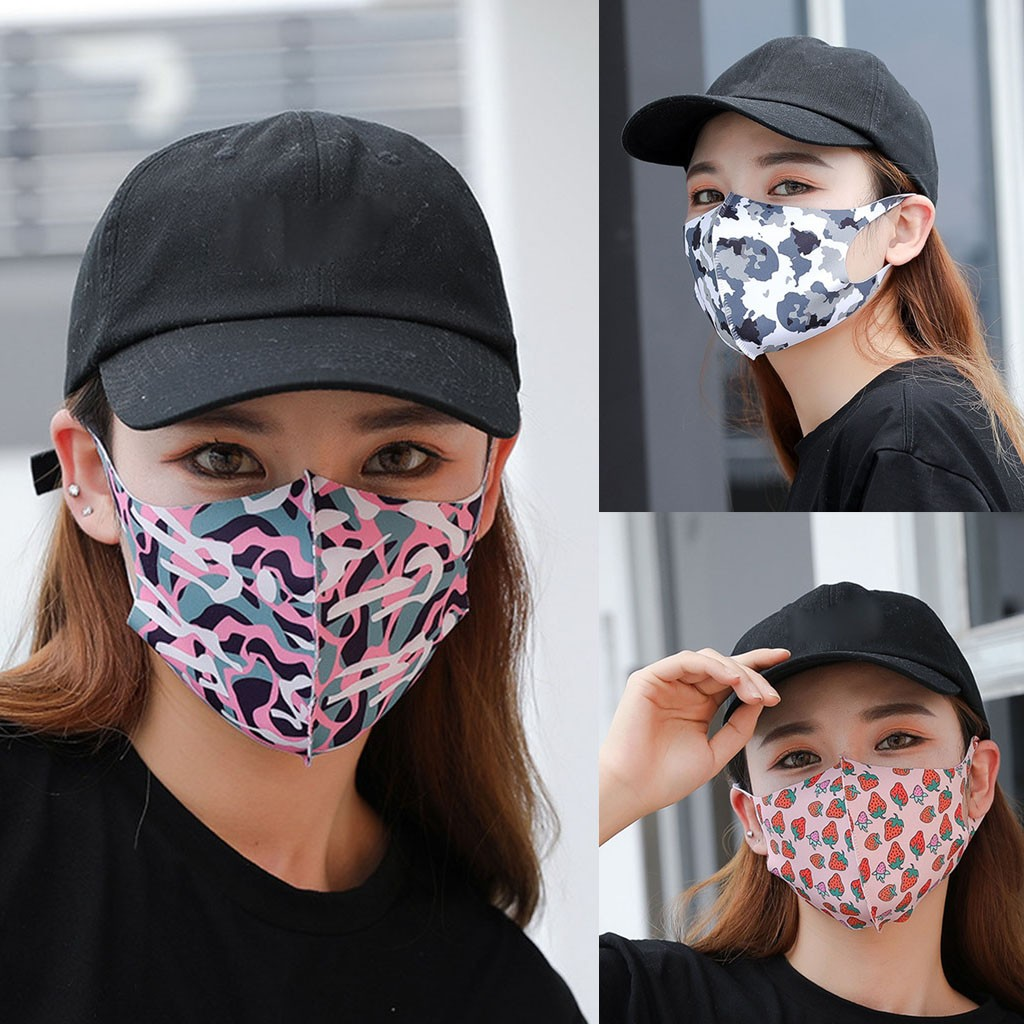 Masque Reutilisable Mask New PM2.5 Outdoor Mouth Mask Washable Reuse Face Mask Printing Protection Masque Protection Lavable