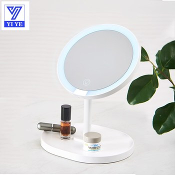 Makeup Mirror Vanity Mirror with Lights Brightness Adjustable Portable USB Rechargeable Cosmetic   Beauty Detachable Mirrior