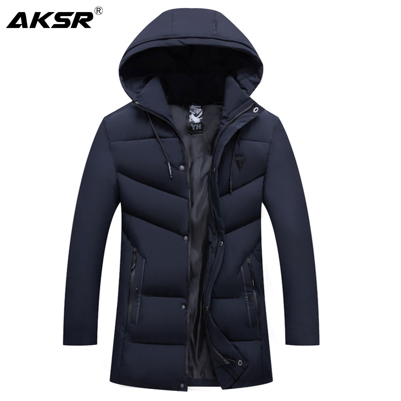 AKSR Men's Winter Jacket Coat Hooded Thick Warm Winter Coat for Men Large Size Windbreaker   Parkas   Coats Jackets Men Clothes 2019