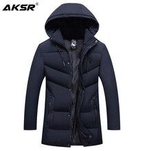 Veste dhiver chaud et épais pour hommes, manteau coupe vent, parka, grande taille, à capuche, vêtements masculins