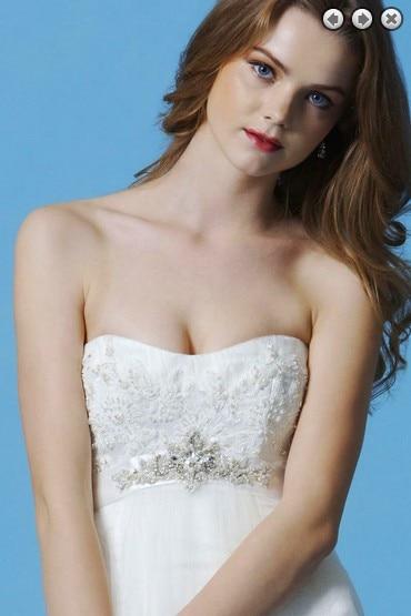 free shipping new Fashion dinner 2016 maxi crystal brides maid bridal belt vestidos formales white long lace Bridesmaid Dresses