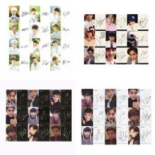 Youpop KPOP EXO K M EXACT LOTTO Plant 3 EX'ACT Album auto-fait cartes papier K-POP Signature LOMO Photo carte Photocard(China)
