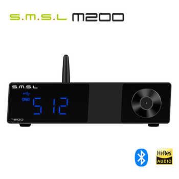 SMSL M200 AK4497EQ DAC Bluetooth 5,0 Unterstützung 32Bit/768KHz DSD512 Decoder mit Fernbedienung