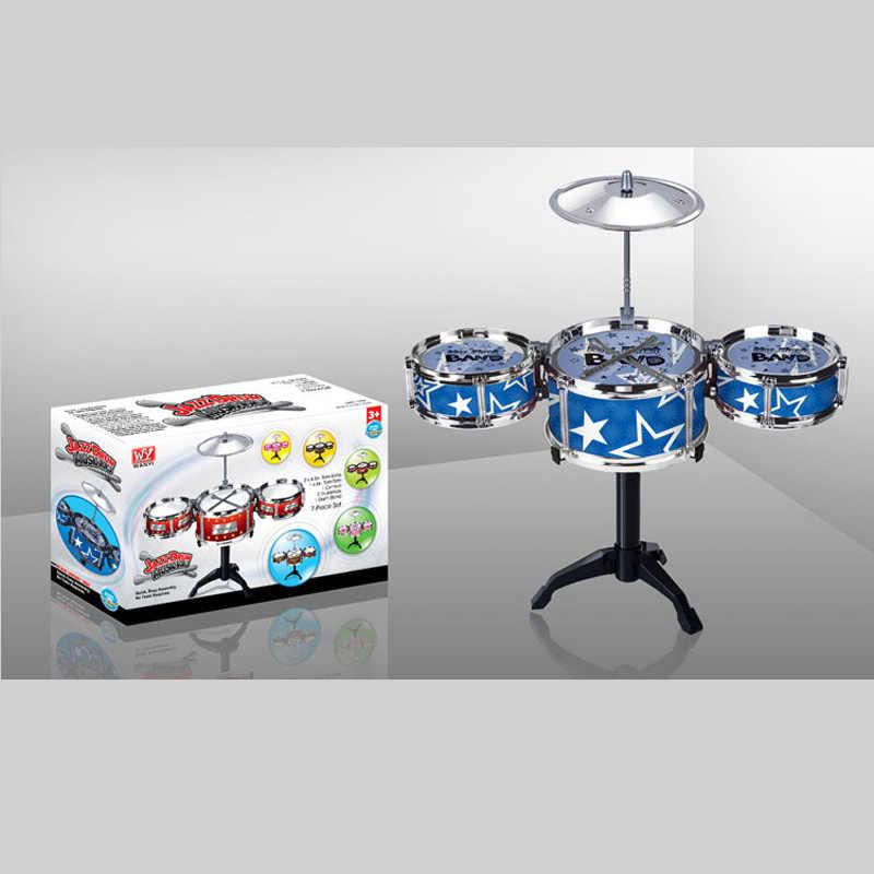 Idea regalo Giocattoli Per Bambini Drum Set Delle Ragazze Dei Ragazzi Riprodurre Musica Sviluppare L'intelligenza blu e rosso per scegliere Il Trasporto + libero