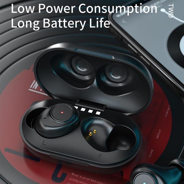 JIMARTI L7 Bluetooth אוזניות סטריאו אלחוטי רעש HIFI צליל ספורט אוזניות דיבורית משחקי אוזניות עם מיקרופון עבור טלפון