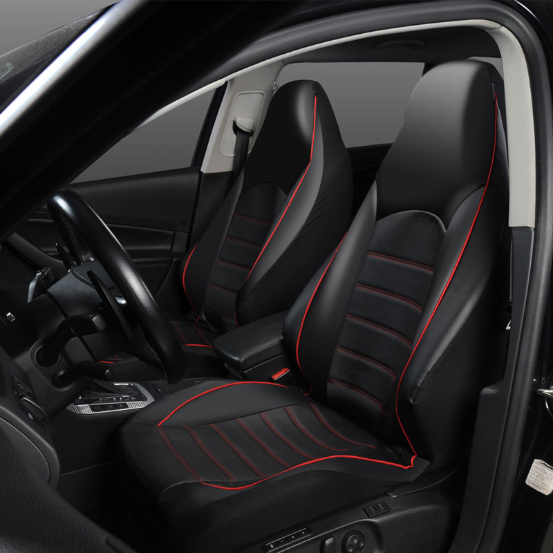 Black Seat Covers for Seat Altea Car Seat Cover Front