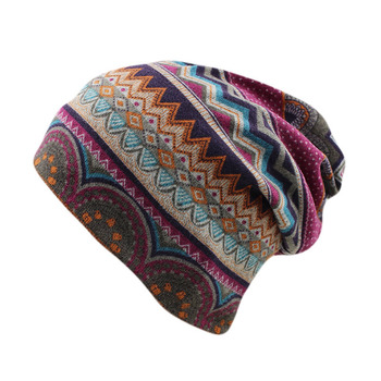 Top Sale Fashion Beanies Skullies Women Outdoor Autumn Warm Hats Scarf Two Used Gorras Casual Floral Girl - discount item  30% OFF Hats & Caps