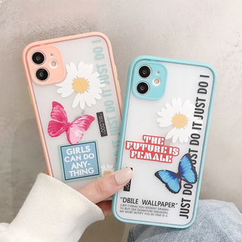 Art Butterfly Label Case For iphone 11 Pro Max XS X XR Phone Case For iphone 7 8 Plus 7Plus Shockproof Bumper Silicon Soft Cover image