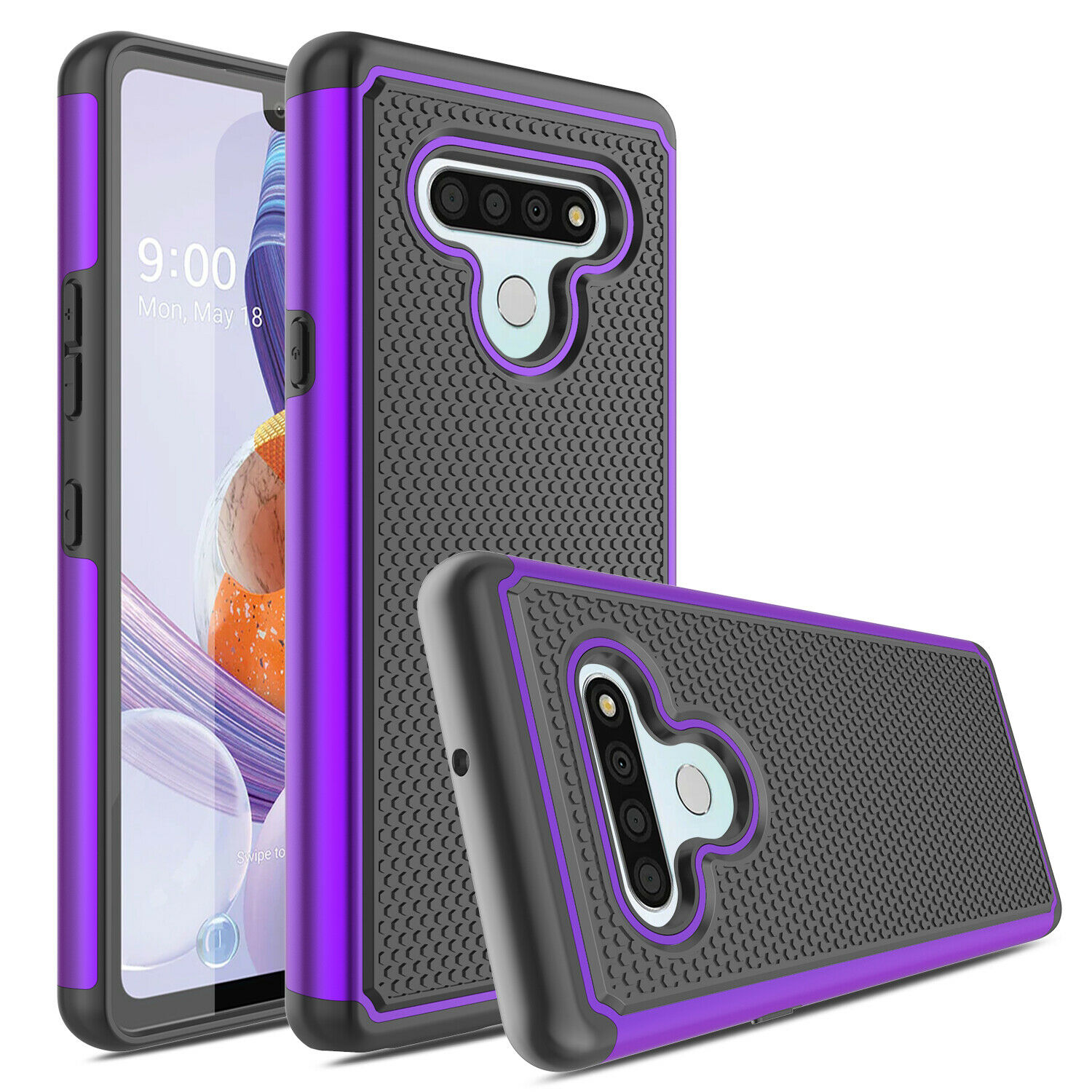 Phone Case For Stylo 6 Stylo 5 Stylo 4 LG K40 K30 2019 LG Aristo 4 Plus G8 Rugged Dual Layer Protective Case For LG Stylo 6/5/4