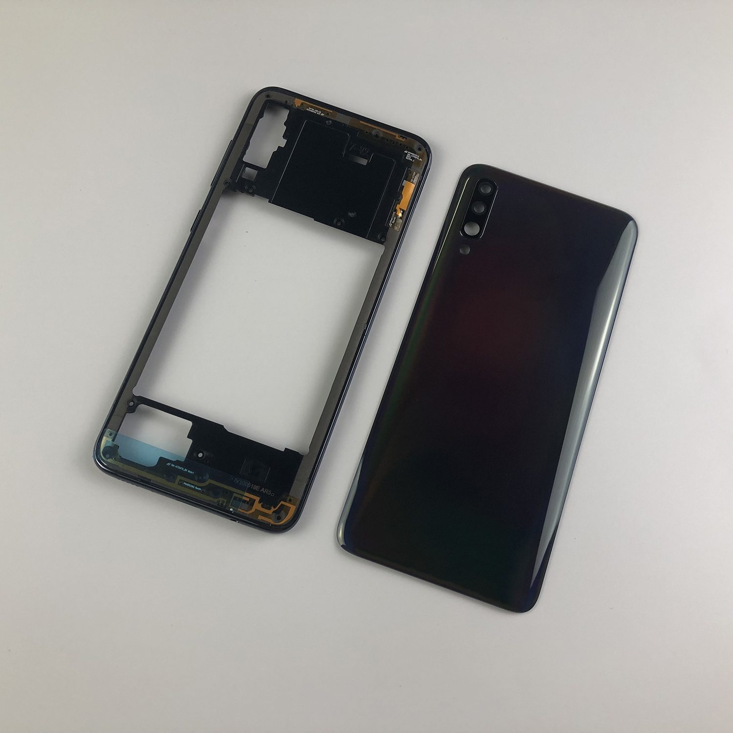 Original For SAMSUNG Galaxy A70 2019 A705 SM-A705F A705DS Housing Middle Frame Plate Bezel+Rear Cover Battery Back Cover+Logo
