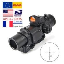 Accessoires pour fusils de chasse1x-4x, double objectif de tactique, avec petit point rouge et vert, vue pour fusils, chasse,
