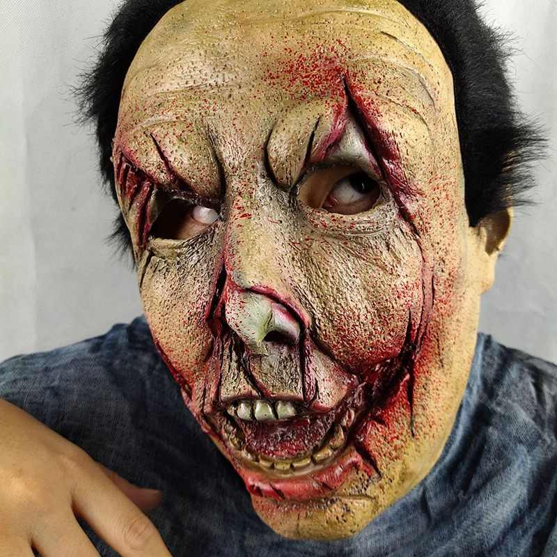 Хэллоуин реквизит зомби парики латекс ужас волшебник призрак кровавый мутант Зомби Маска