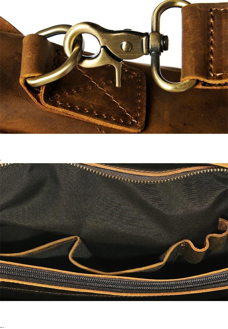 portátil maleta designer de couro natural multifuncional