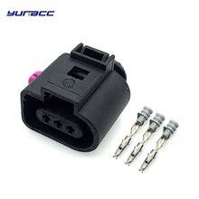 цена на 5sets 3pins 1.5mm female waterproof Electrical Wire Connector for Audi A4/A6 AVK 3.0 VW Temp auto sensor plug Repair Kit
