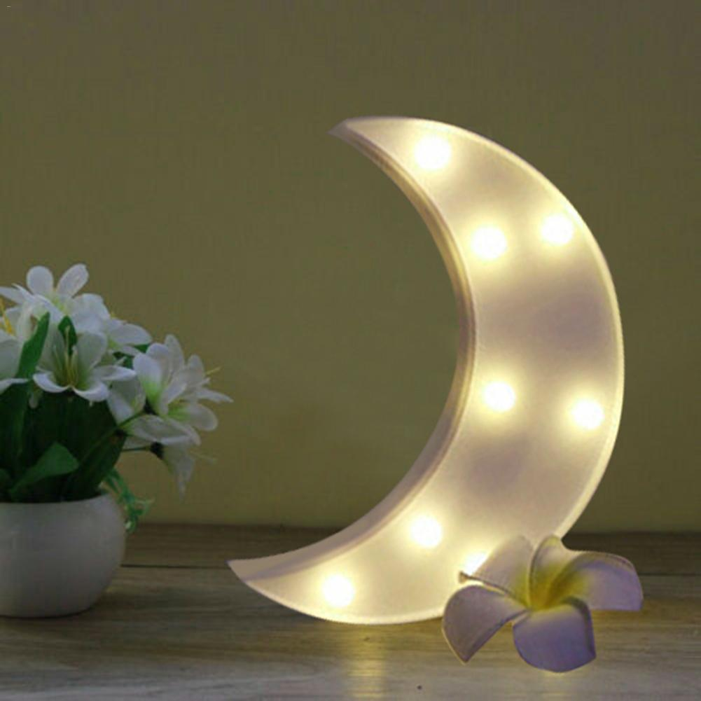 Cute 3D Moon LED Night Light Lovely Table Lamp Wall Desktop Christmas Party Decoration Kids Room Nursery Lamp Gift