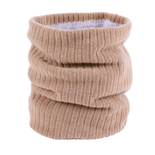 Ring-Scarves Women Neck-Warmer Outdoor Winter Unisex Knit Kid Thick Mufflers Plush-Collar