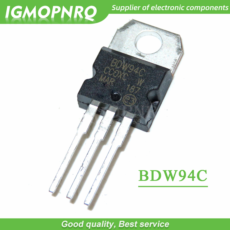 10pcs/lot BDW94C BDW94 TO-220 N-channel Darlington Transistor New Original Free Shipping