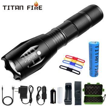 Linterna Led T20 Q250 linterna ultrabrillante T6/L2/V6 con zoom 5 modos TL360...