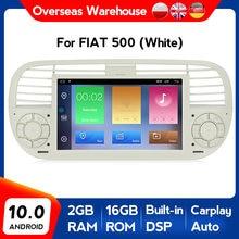 ¡Nuevo producto! DSP android 10,0 navegación gps con dvd para coche reproductor multimedia para Fiat 500. 2007-2016 con wifi bluetooth carplay DAB +