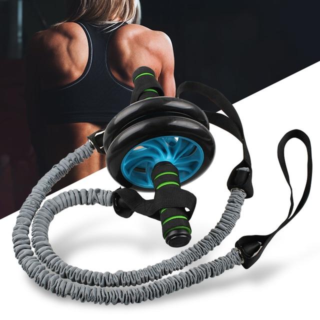 Ab بكرة عجلة مع سحب حبل Abs Carver لتمارين البطن المعدة التدريب للمنزل الصالة الرياضية اللياقة البدنية