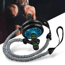 Rueda de rodillo Ab con cuerda de tracción Abs Carver para entrenamiento de ejercicio Abdominal para gimnasio en casa Fitness