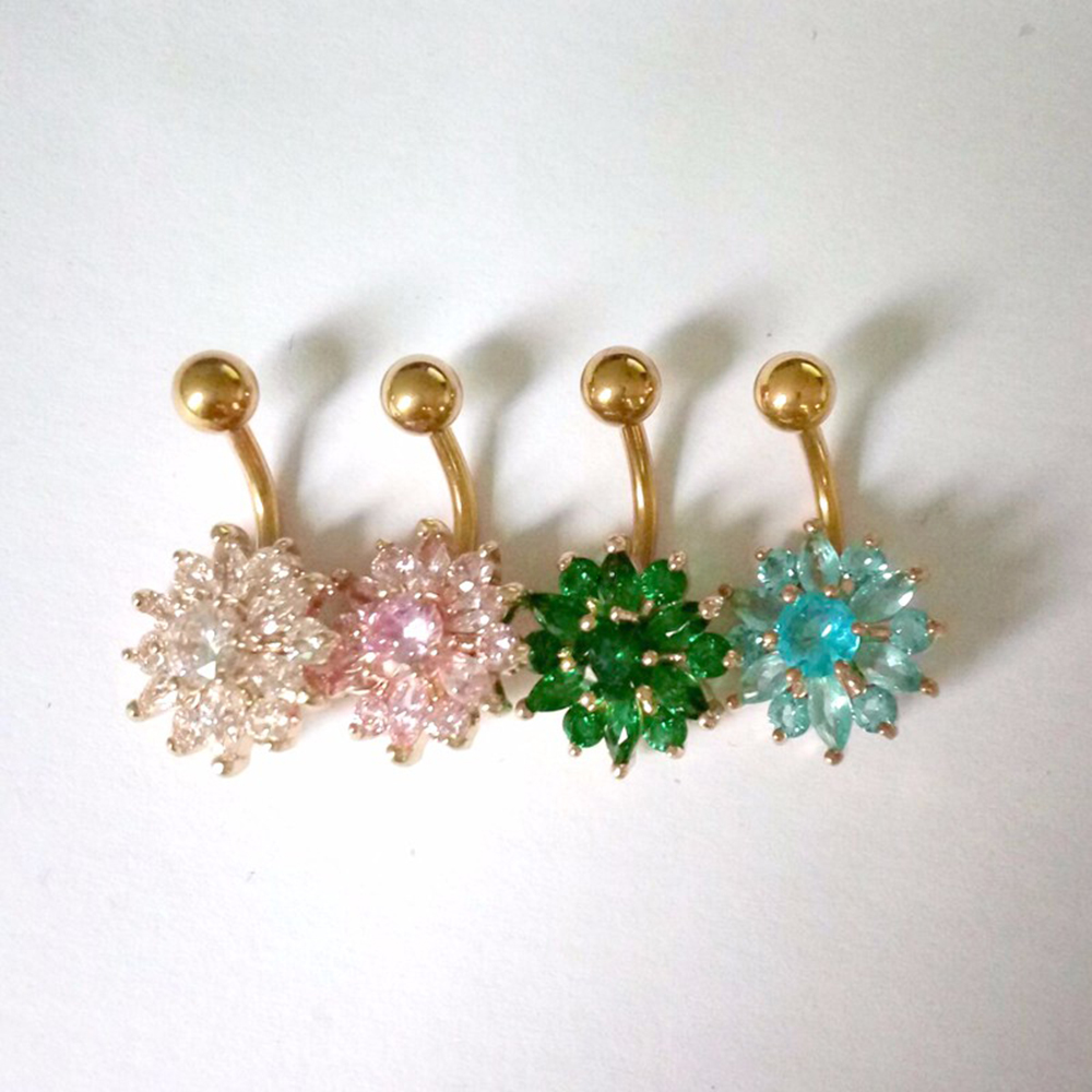 H6dd4494ac013459d83d1036c7a944831E Navel Piercing Body Jewelry Crystal Flower Belly Button Ring