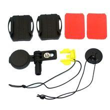 1 conjunto ajustável curvo adesivo capacete montagem lateral para sony VCT HSM1 HDR AS50R as30v as200v as100v as10 as300 az1vr fdr ação