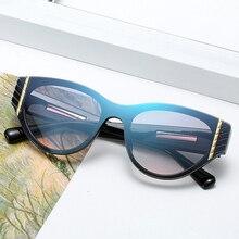 MOUGOL brand, cat-eye sexy sunglasses, Cateye 2019 womens luxury designer high-quality metallic sunglasses