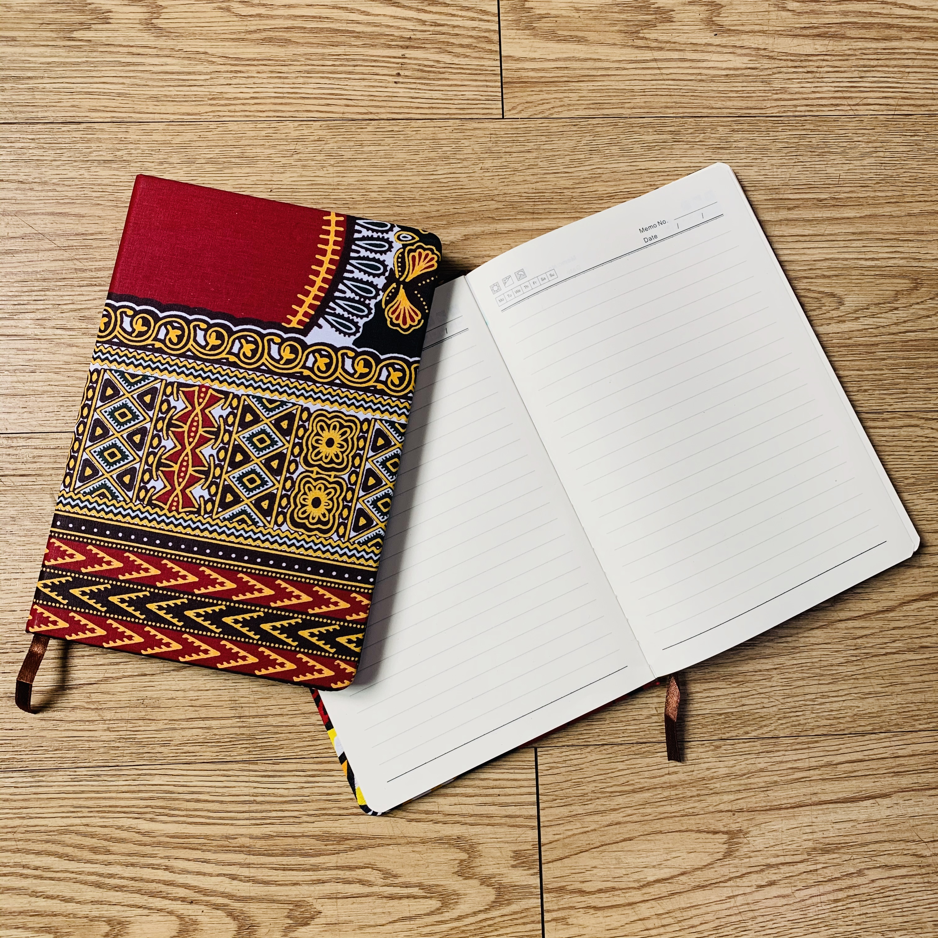 Ankara Notebook A5 School Office Hard Cover Yearly Monthly Planning Papers Journal Notebook Daily Mem African Accessories