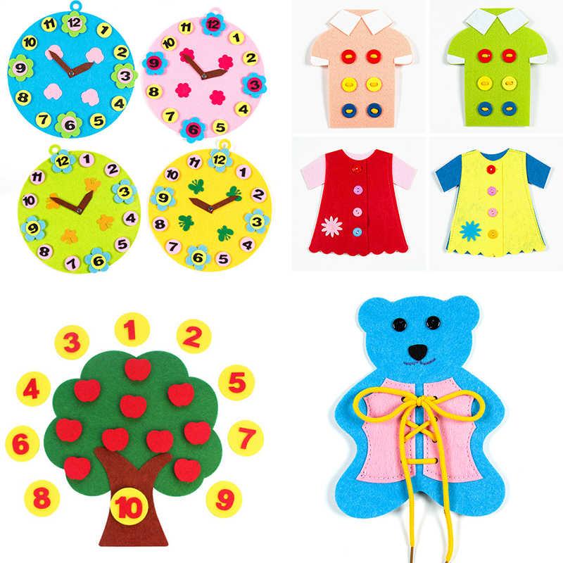 Pola Kartun Yang Indah Kerajinan Balita Montessori Pendidikan Mainan untuk Anak-anak Belajar Kreativitas Mengembangkan Matematika Mainan Anak Hadiah
