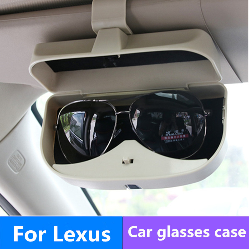 Car Sunglasses Case Holder Glasses Box Storage For <font><b>Lexus</b></font> RX NX GS CT200H GS300 <font><b>RX350</b></font> RX300 MG 3 ZR Accessories image