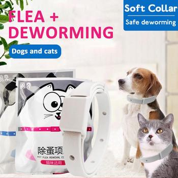 1PC Cat Dog Anti-flea Collar Anti-mosquito Removes Flea And Tick Pet Collar Pet Vitro Deworming Long-term Protection For Pets image